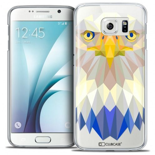 Coque Crystal Galaxy S6 Extra Fine Polygon Animals - Aigle