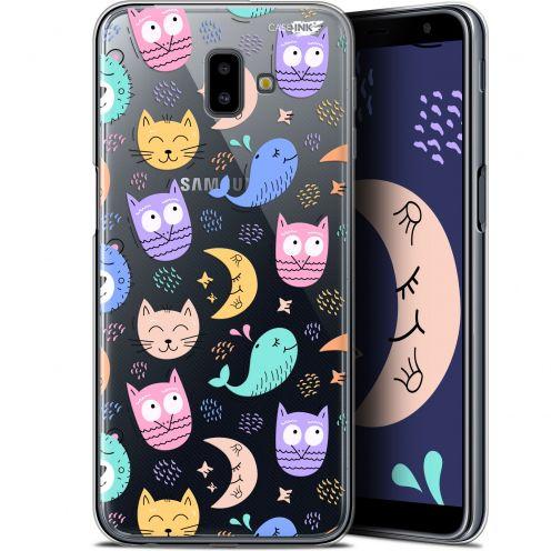 "Coque Gel Samsung Galaxy J6 Plus J6+ (6.4"") Extra Fine Motif -  Chat Hibou"
