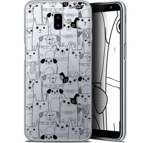 "Coque Gel Samsung Galaxy J6 Plus J6+ (6.4"") Extra Fine Motif -  Chien Noir"