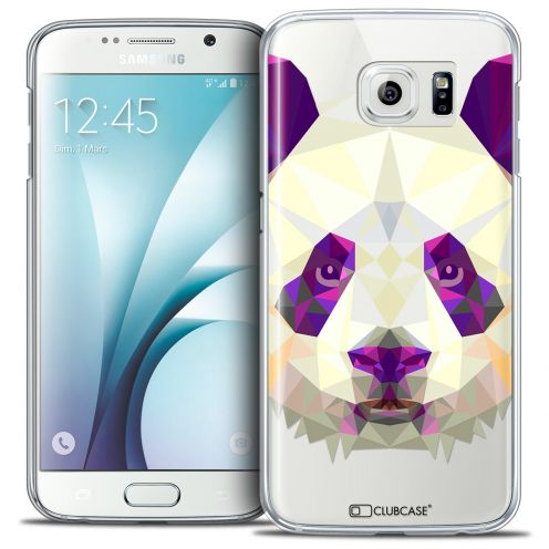 Coque Crystal Galaxy S6 Extra Fine Polygon Animals - Panda