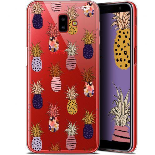"Coque Gel Samsung Galaxy J6 Plus J6+ (6.4"") Extra Fine Motif -  Ananas Gold"