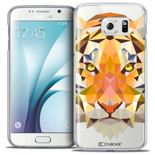 Coque Crystal Galaxy S6 Extra Fine Polygon Animals - Tigre