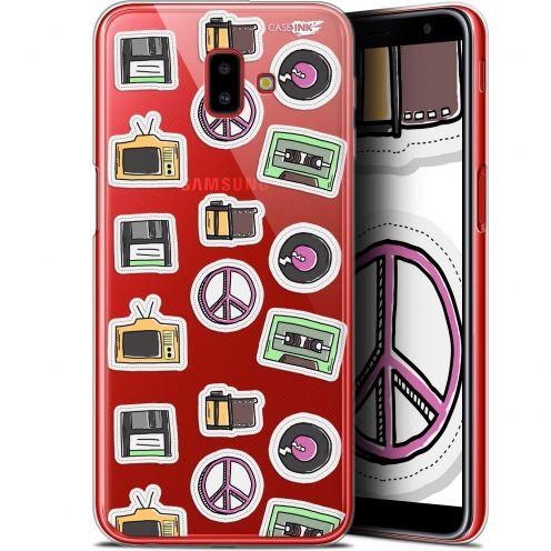 "Coque Gel Samsung Galaxy J6 Plus J6+ (6.4"") Extra Fine Motif -  Vintage Stickers"