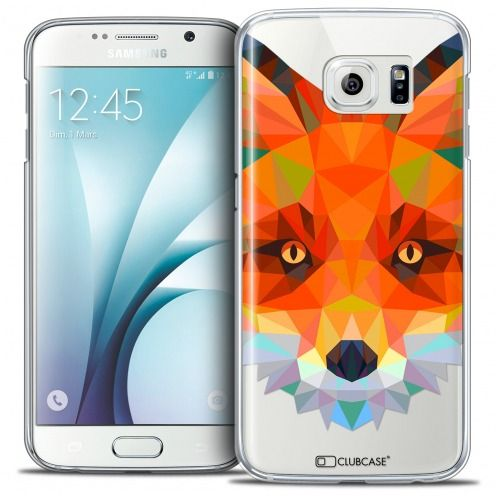 Coque Crystal Galaxy S6 Extra Fine Polygon Animals - Renard