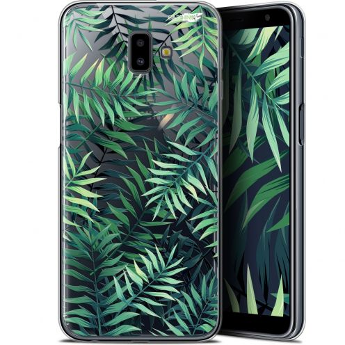 "Coque Gel Samsung Galaxy J6 Plus J6+ (6.4"") Extra Fine Motif -  Feuilles des Tropiques"