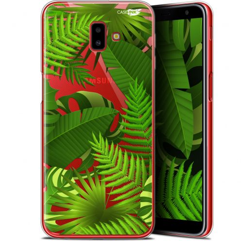 "Coque Gel Samsung Galaxy J6 Plus J6+ (6.4"") Extra Fine Motif -  Plantes des Tropiques"
