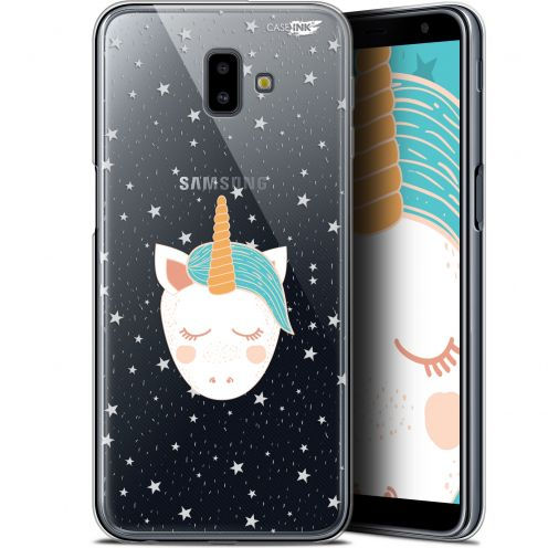 "Coque Gel Samsung Galaxy J6 Plus J6+ (6.4"") Extra Fine Motif - Licorne Dors"