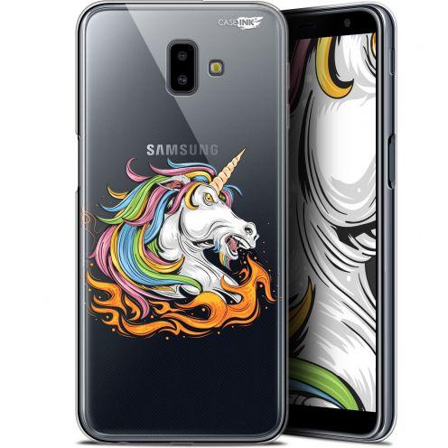 "Coque Gel Samsung Galaxy J6 Plus J6+ (6.4"") Extra Fine Motif - Licorne de Feu"