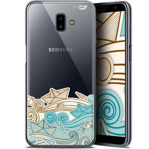 "Coque Gel Samsung Galaxy J6 Plus J6+ (6.4"") Extra Fine Motif -  Bateau de Papier"