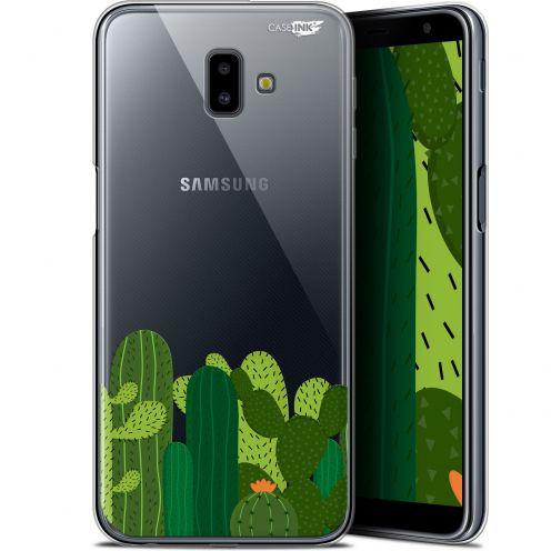 "Coque Gel Samsung Galaxy J6 Plus J6+ (6.4"") Extra Fine Motif - Cactus"