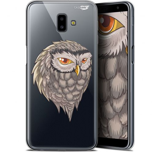"Coque Gel Samsung Galaxy J6 Plus J6+ (6.4"") Extra Fine Motif -  Hibou Draw"