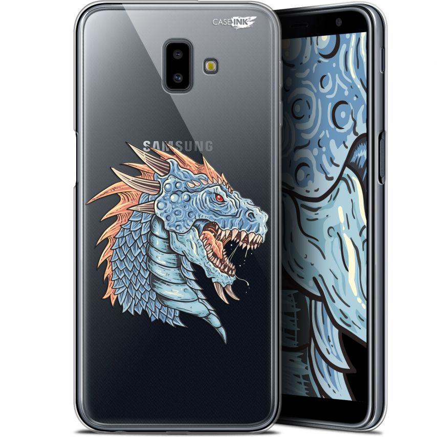 "Coque Gel Samsung Galaxy J6 Plus J6+ (6.4"") Extra Fine Motif - Dragon Draw"