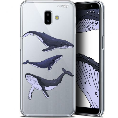"Coque Gel Samsung Galaxy J6 Plus J6+ (6.4"") Extra Fine Motif -  Les 3 Baleines"