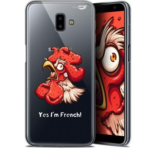 """Coque Gel Samsung Galaxy J6 Plus J6+ (6.4"""") Extra Fine Motif -  I'm French Coq"""