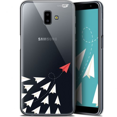 "Coque Gel Samsung Galaxy J6 Plus J6+ (6.4"") Extra Fine Motif -  Papier Volant"