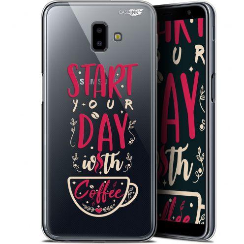 "Coque Gel Samsung Galaxy J6 Plus J6+ (6.4"") Extra Fine Motif - Start With Coffee"