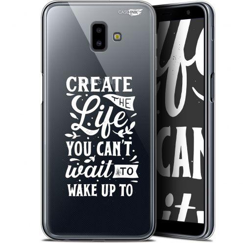 "Coque Gel Samsung Galaxy J6 Plus J6+ (6.4"") Extra Fine Motif - Wake Up Your Life"