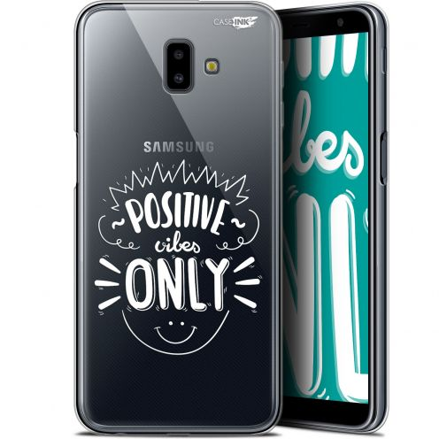 """Coque Gel Samsung Galaxy J6 Plus J6+ (6.4"""") Extra Fine Motif -  Positive Vibes Only"""