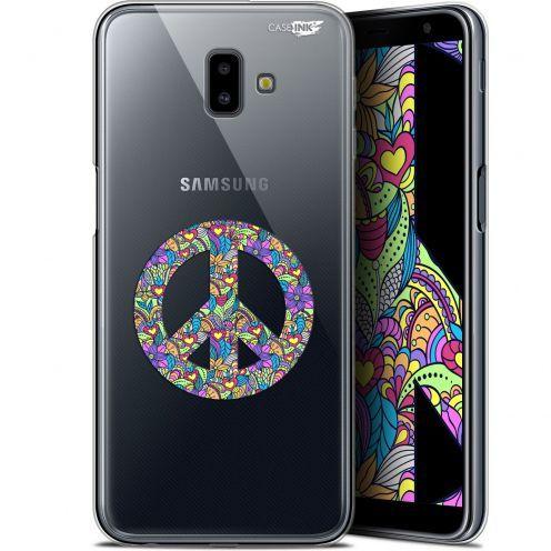 "Coque Gel Samsung Galaxy J6 Plus J6+ (6.4"") Extra Fine Motif - Peace And Love"