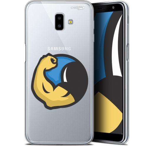 "Coque Gel Samsung Galaxy J6 Plus J6+ (6.4"") Extra Fine Motif -  Monsieur Muscle"