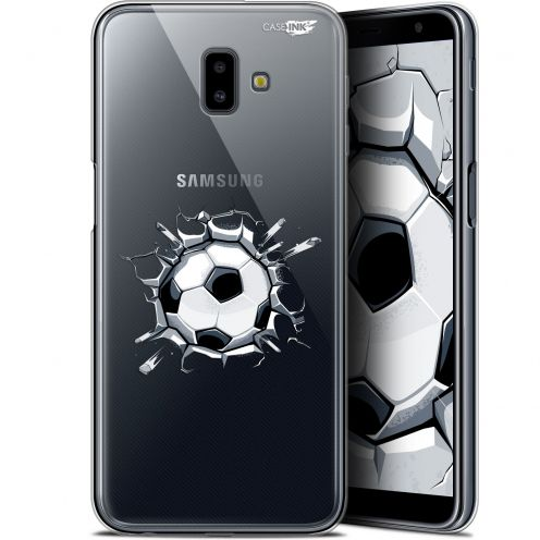 "Coque Gel Samsung Galaxy J6 Plus J6+ (6.4"") Extra Fine Motif - Le Balon de Foot"