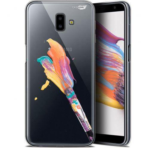 "Coque Gel Samsung Galaxy J6 Plus J6+ (6.4"") Extra Fine Motif -  Pinceau de Peinture"