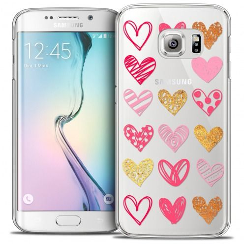 Coque Crystal Galaxy S6 Edge Extra Fine Sweetie - Doodling Hearts
