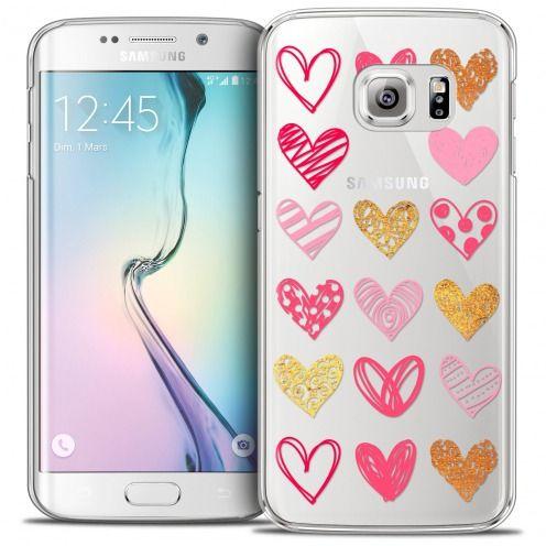 Coque Crystal Galaxy S6 Edge Extra Fine Sweetie - Doodling Hearts