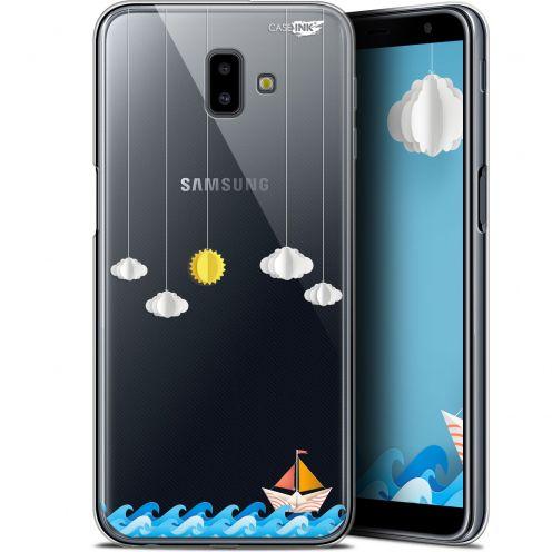"Coque Gel Samsung Galaxy J6 Plus J6+ (6.4"") Extra Fine Motif -  Petit Bateau en Mer"