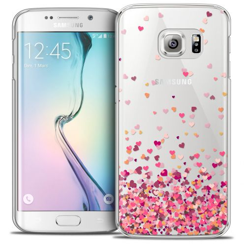 Coque Crystal Galaxy S6 Edge Extra Fine Sweetie - Heart Flakes