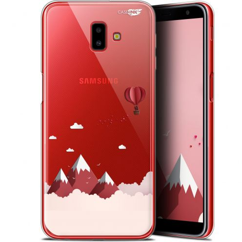 """Coque Gel Samsung Galaxy J6 Plus J6+ (6.4"""") Extra Fine Motif -  Montagne En Montgolfière"""