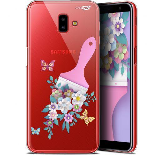 "Coque Gel Samsung Galaxy J6 Plus J6+ (6.4"") Extra Fine Motif -  Pinceau à Fleurs"