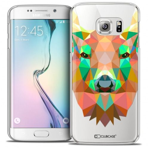 Coque Crystal Galaxy S6 Edge Extra Fine Polygon Animals - Cerf