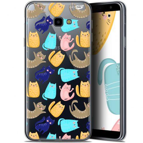 "Coque Gel Samsung Galaxy J4 Plus J4+ (6"") Extra Fine Motif - Chat Danse"
