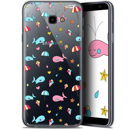 "Coque Gel Samsung Galaxy J4 Plus J4+ (6"") Extra Fine Motif - Baleine à la Plage"
