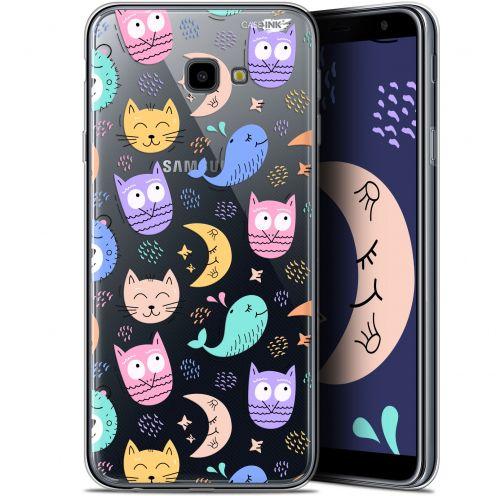 "Coque Gel Samsung Galaxy J4 Plus J4+ (6"") Extra Fine Motif -  Chat Hibou"