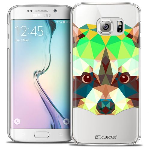 Coque Crystal Galaxy S6 Edge Extra Fine Polygon Animals - Raton Laveur