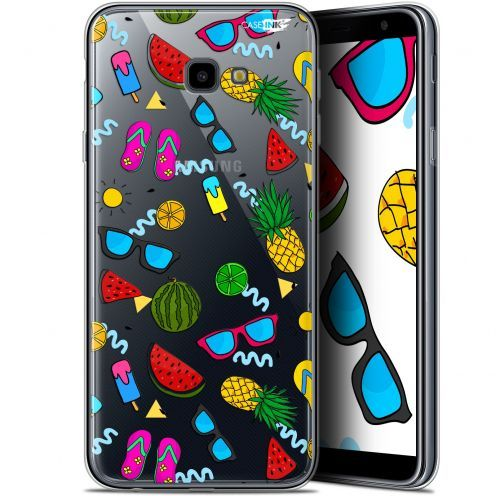 "Coque Gel Samsung Galaxy J4 Plus J4+ (6"") Extra Fine Motif -  Summers"
