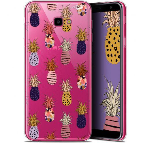 "Coque Gel Samsung Galaxy J4 Plus J4+ (6"") Extra Fine Motif -  Ananas Gold"
