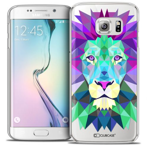 Coque Crystal Galaxy S6 Edge Extra Fine Polygon Animals - Lion