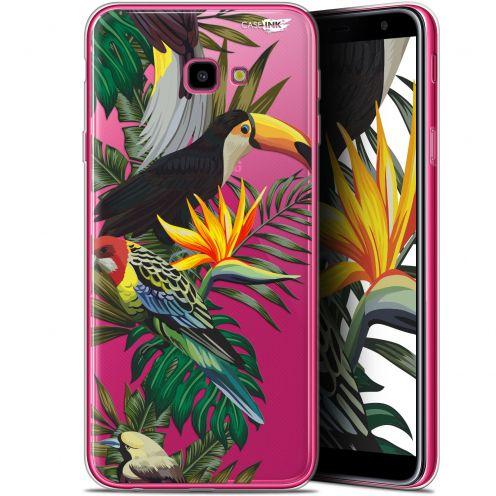"Coque Gel Samsung Galaxy J4 Plus J4+ (6"") Extra Fine Motif -  Toucan Tropical"