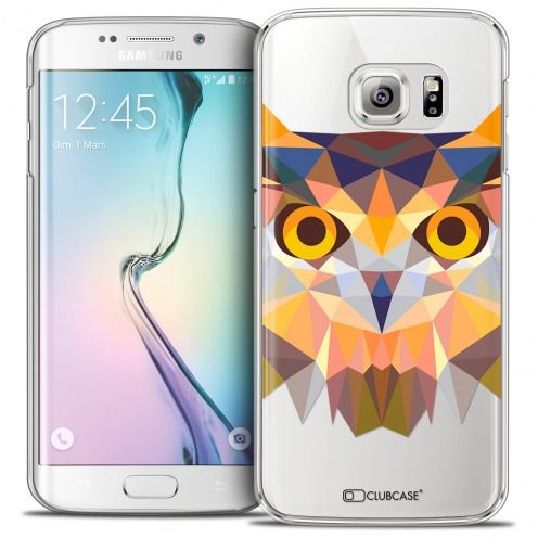 Coque Crystal Galaxy S6 Edge Extra Fine Polygon Animals - Hibou