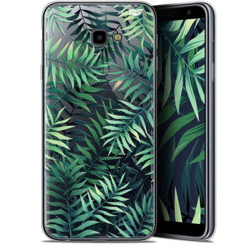 "Coque Gel Samsung Galaxy J4 Plus J4+ (6"") Extra Fine Motif -  Feuilles des Tropiques"