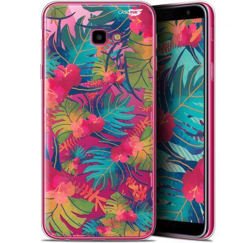 """Coque Gel Samsung Galaxy J4 Plus J4+ (6"""") Extra Fine Motif -  Couleurs des Tropiques"""