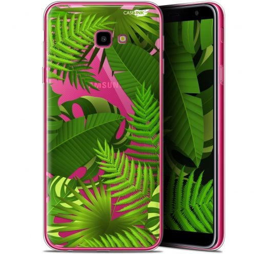 "Coque Gel Samsung Galaxy J4 Plus J4+ (6"") Extra Fine Motif -  Plantes des Tropiques"