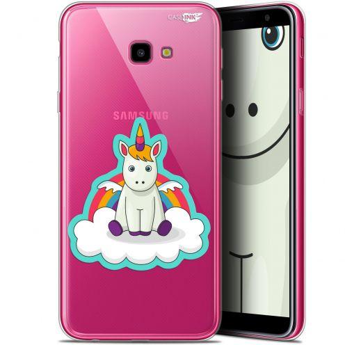 "Coque Gel Samsung Galaxy J4 Plus J4+ (6"") Extra Fine Motif -  Bébé Licorne"