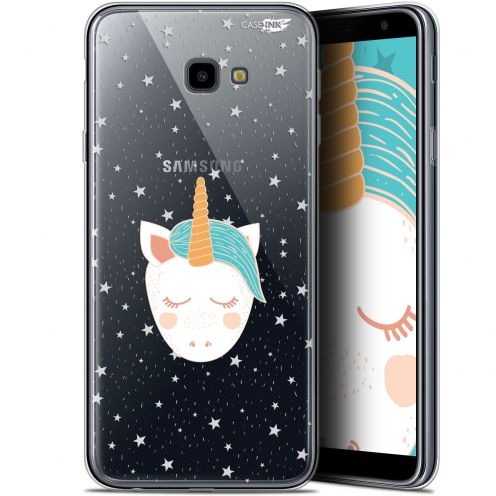 "Coque Gel Samsung Galaxy J4 Plus J4+ (6"") Extra Fine Motif -  Licorne Dors"