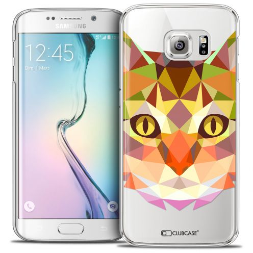 Coque Crystal Galaxy S6 Edge Extra Fine Polygon Animals - Chat