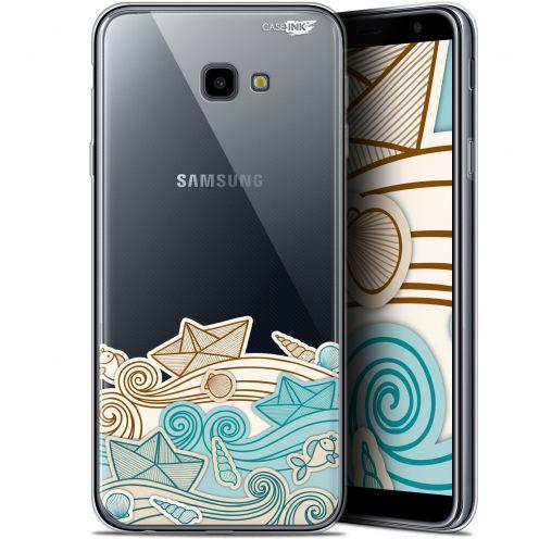 "Coque Gel Samsung Galaxy J4 Plus J4+ (6"") Extra Fine Motif -  Bateau de Papier"