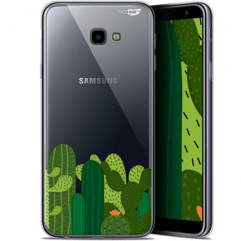 "Coque Gel Samsung Galaxy J4 Plus J4+ (6"") Extra Fine Motif -  Cactus"